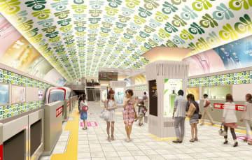 大阪メトロが昨年12月に公表した心斎橋駅のデザイン案