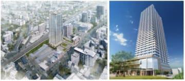東急不動産による事業企画提案段階での複合施設の完成イメージ(東急不動産発表資料より)