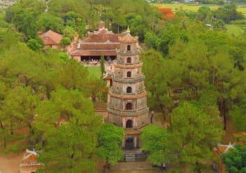 ベトナムの古都フエで必見の世界遺産ティエンムー寺