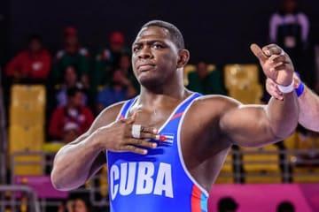 大会5連覇を達成、オリンピックV4を目指すミハイン・ロペス・ヌネス(キューバ)=提供・UWW