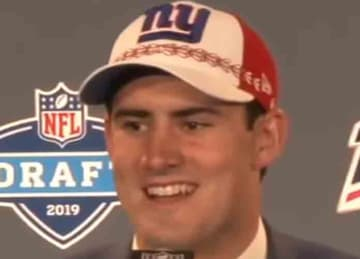Daniel Jones with the Giants in 2019