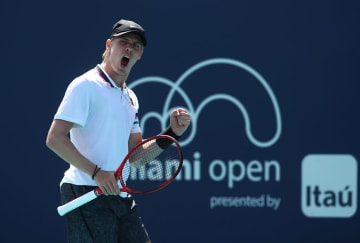 2019年度「ATP1000 マイアミ」でのシャポバロフ