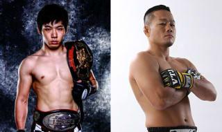 髙谷裕之(右)が12年ぶりの修斗で現フェザー級王者・斎藤裕(左)と対戦