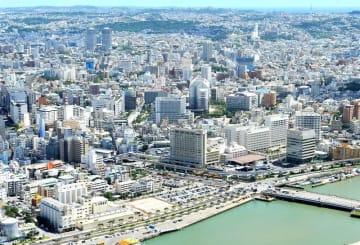 空から見た那覇市内(資料写真)