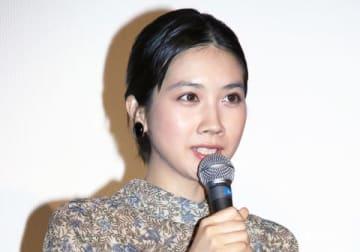 映画「おいしい家族」のトークイベント付き特別試写会に登場した松本穂香さん