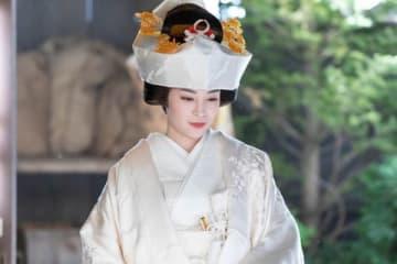 NHK連続テレビ小説「なつぞら」第114回に登場したなつ(広瀬すずさん)の白無垢姿 (C)NHK