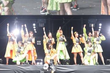 「ROCK IN JAPAN FESTIVAL 2019」に出演した「モーニング娘。'19」
