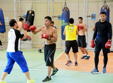 練習を公開したタイのボクシング選手