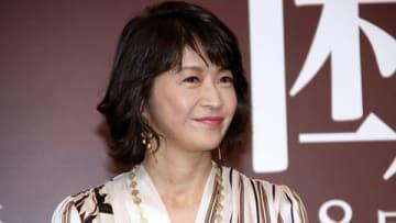連続ドラマ「それぞれの断崖」の制作発表記者会見に出席した田中美佐子さん