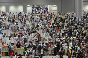 東京ビッグサイトなどで開催中の「コミックマーケット96」
