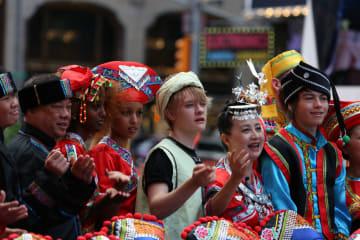 米ニューヨークに響く中国の歌