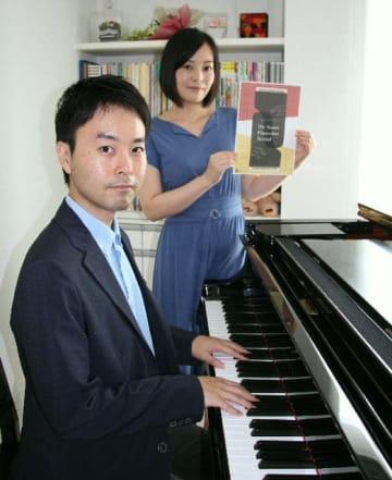 9月に10周年記念リサイタルを開催するピアノデュオの宮崎大介さん(左)、陽子さんきょうだい=大分市公園通り