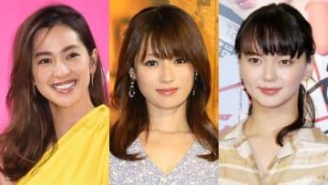 (左から)中村アンさん、深田恭子さん、多部未華子さん