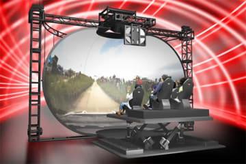 世界ラリー 体感アトラクションのイメージ。(画像: トヨタ自動車の発表資料より)