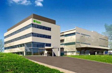 タカコが京都府木津川市に移転する本社の新たな社屋と工場の完成イメージ図