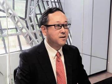 NECTIのバイス・プレジデントとDLDSの取締役を務める大島氏は、今年4月からDLDSの最高経営責任者(CEO)に就任した=9日、インド・ニューデリー(NNA撮影)