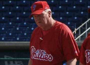 Charlie Manuel as manager for the Phillies in 2006