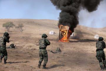 新疆での中国・キルギス対テロ合同演習終わる