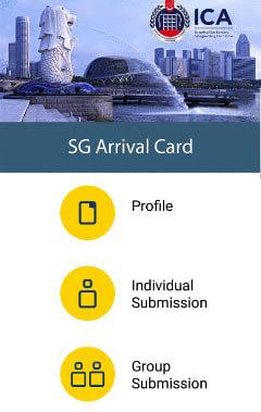 ICAが導入した「SGアライバルカード」のスマホアプリ(ICA提供)