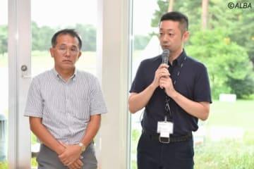 森泰夫東京2020組織委員会大会運営局次長(左)と立石泰隆東京2020組織委員会スポーツマネージャー(撮影:山代厚男)