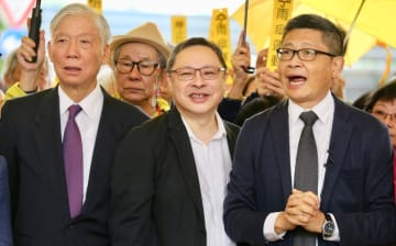 Reverend Chu Yiu-ming, Benny Tai and Chan Kin-man. File Photo: inmediahk.net.