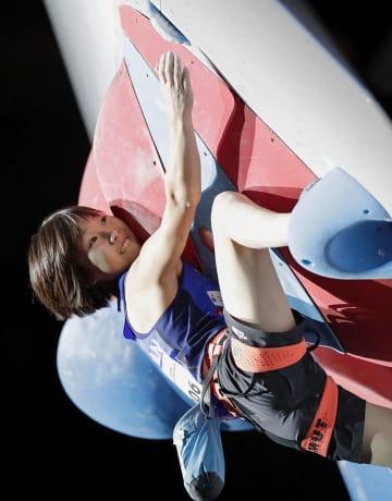 女子リード決勝 銅メダルを獲得した森秋彩=エスフォルタアリーナ八王子