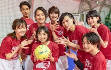 フットサルに挑戦したリュウソウジャーチーム (C)2019 テレビ朝日・東映AG・東映
