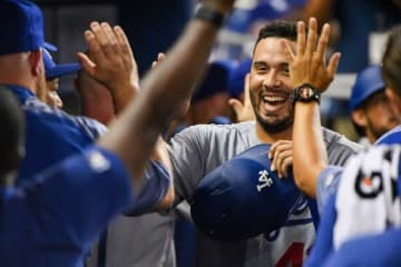 2本塁打と活躍したドジャースのエドウィン・リオス【写真:Getty Images】