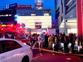 騒然とした横浜駅西口=6月29日午後7時ごろ
