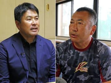 海星・加藤監督(左)、八戸学院光星・仲井監督(右)
