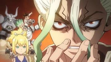 TVアニメ『Dr.STONE』第7話先行カット(C)米スタジオ・Boichi/集英社・Dr.STONE製作委員会
