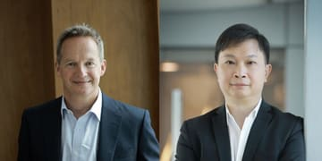 Rupert Hogg and Paul Loo. Photo: Cathay Pacific.