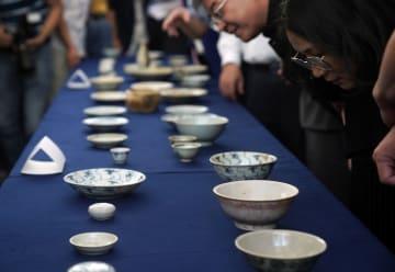 清代の沈没船から見つかった磁器、中国国家博物館に収蔵へ