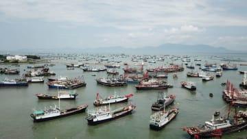 南中国海で漁解禁 広東省陽江市