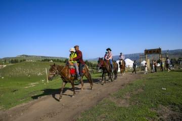 カザフ族の伝統文化を体験しよう 新疆テケス県瓊庫什台村