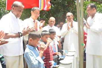 中国大使館支援による浄水設備が運用開始 スリランカの村