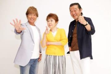 アニメ「ONE PIECE」でルフィの声優を務める(左から)古谷徹さん、田中真弓さん、大場真人さん