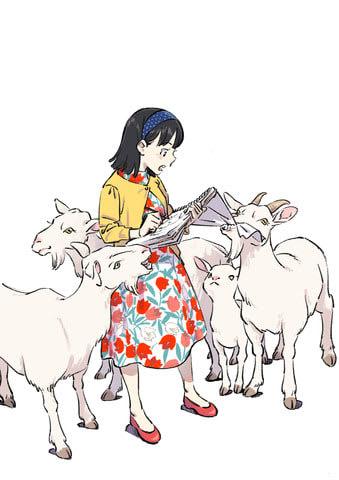NHK連続テレビ小説「なつぞら」台本表紙絵 (C)ササユリ・NHK