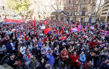 華僑華人が香港の平和を求める集会開催 シドニー