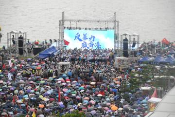 香港で「暴力反対、香港を救おう」集会 47万人超が参加