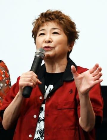 劇場版「ONE PIECE STAMPEDE」の大ヒット御礼舞台あいさつに登場した田中真弓さん