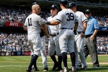 ヤンキースのブレット・ガードナー(左)【写真:Getty Images】
