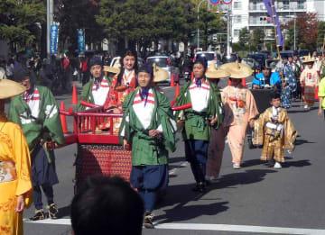 昨年の長岡京ガラシャ祭(京都府長岡京市長岡2丁目)