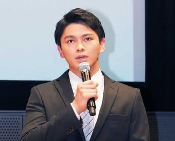連続ドラマ「ノーサイド・ゲーム」で七尾圭太を演じている眞栄田郷敦さん