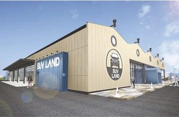 鹿児島に出店する「SUV LAND鹿児島」のイメージ図