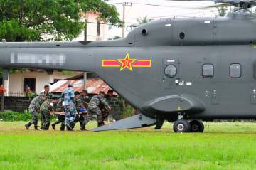 中国陸軍国産新型救助ヘリが海外で初の演習参加