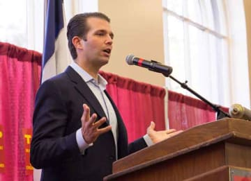 Donald Trump Jr. at Iowa rally