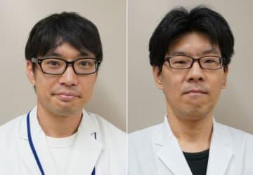 古家野孝行研究員(左)と松山誠室長