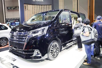 "Toyota Motor Thailand Co. unveils the luxury van ""Toyota Majesty"" for sale at the Big Motor Sale 2019 exhibit in Bangkok on Aug. 16."