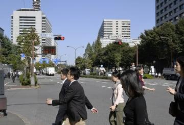 東京・霞が関の官庁街=2017年